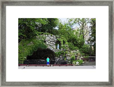 Grotto Of Our Lady Of Lourdes Framed Print