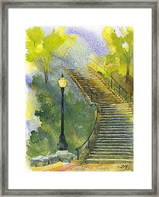 Grotto Stairs Framed Print by John Meng-Frecker