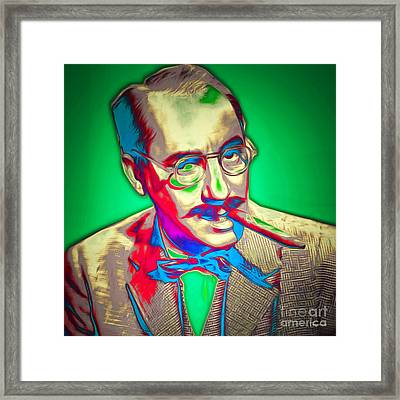Groucho Marx 20151218 Square Framed Print by Wingsdomain Art and Photography