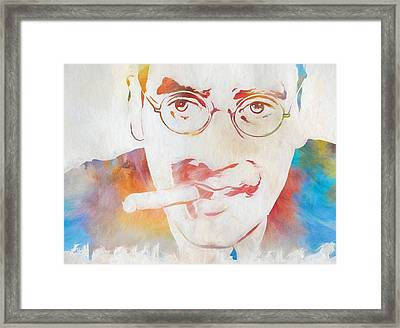 Groucho Marx Framed Print by Dan Sproul