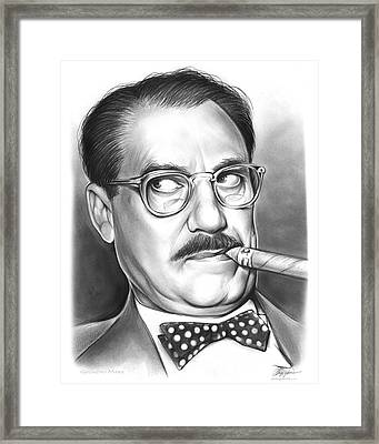 Groucho Marx Framed Print by Greg Joens