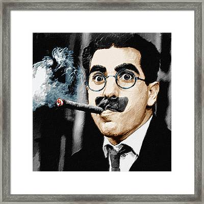 Groucho Marx Square  Framed Print