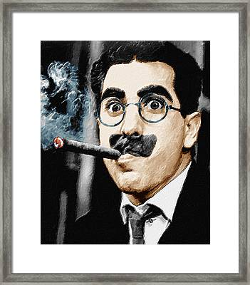 Groucho Marx Vertical  Framed Print