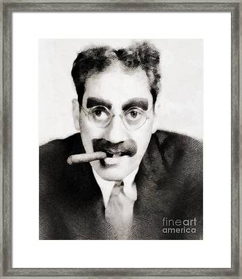 Groucho Marx, Vintage Hollywood Legend Framed Print by John Springfield