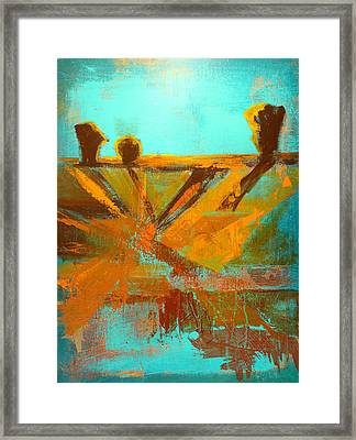 Ground Elements Framed Print by Nancy Merkle