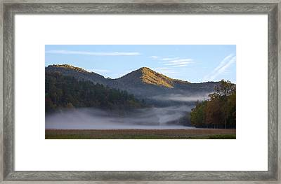 Ground Fog In Cataloochee Valley - October 12 2016 Framed Print
