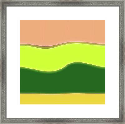 Ground Layers Abstract Framed Print