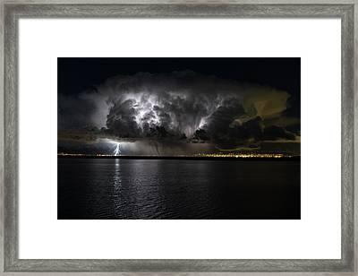 Ground Strike Framed Print by Justin Johnson