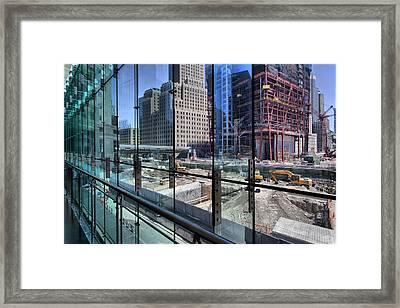 Ground Zero From World Financial Center Framed Print by Robert Ullmann