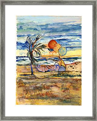 Group At The Beach Framed Print by Lily Hymen