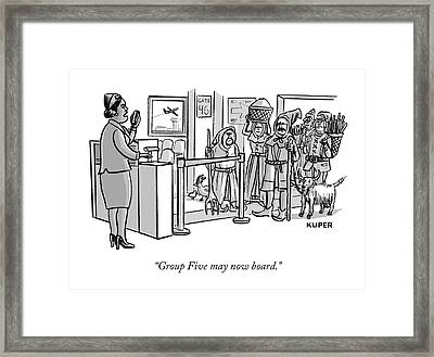 Group Five May Now Board Framed Print