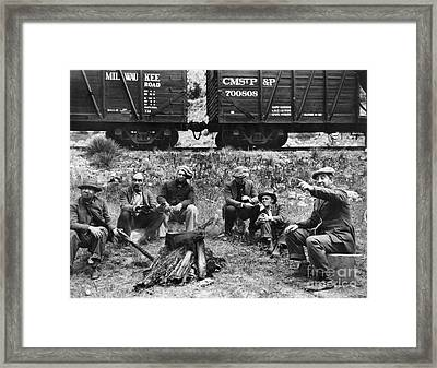 Group Of Hoboes, 1920s Framed Print by Granger