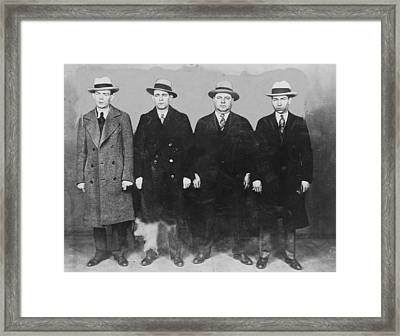Group Of Mobsters In The 1920s. Left Framed Print