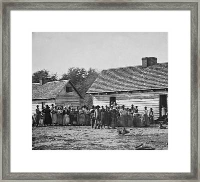Group Of Slaves On J.j. Smiths Framed Print