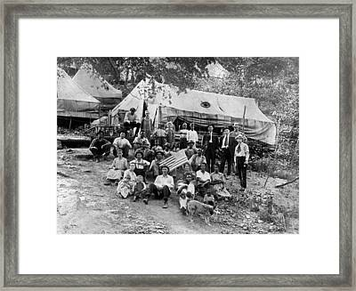 Group Of Striking Union Miners & Framed Print by Everett