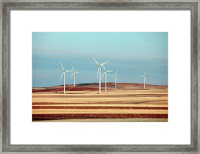 Group Of Turbines Framed Print by Todd Klassy