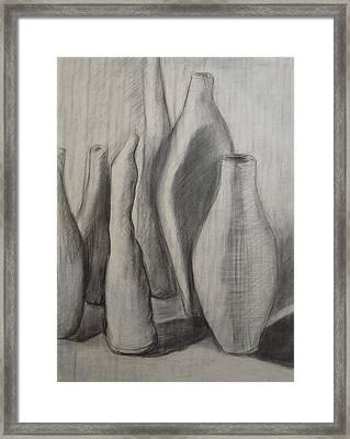 Group Of Vessels Framed Print by Leila Atkinson