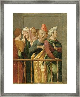 Groupe Of Figures Framed Print by MotionAge Designs