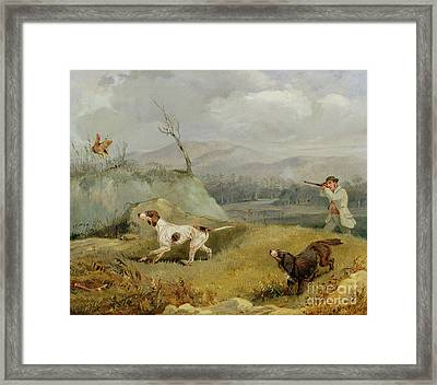Grouse Shooting  Framed Print by Henry Thomas Alken