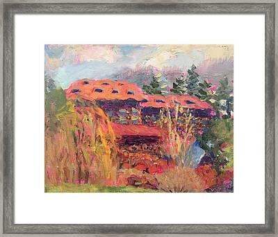 Grove Park Inn Spring Framed Print by Lisa Blackshear