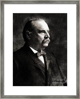 Grover Cleveland, President United States By John Springfield Framed Print