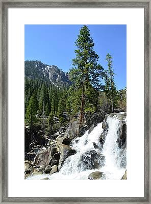 Grover Hot Springs Waterfall Framed Print