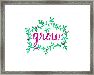 Grow Framed Print by Michelle Eshleman