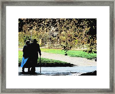 Grow Old With Me Framed Print by Jan Cipolla