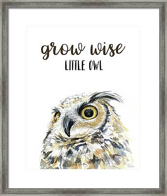 Grow Wise Little Owl Framed Print