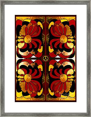 Growing Peaceful Ideas Abstract Bliss Art By Omashte Framed Print by Omaste Witkowski