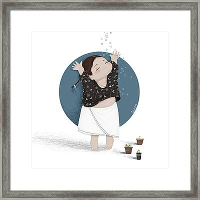 Growing Sprouts Framed Print by Soosh