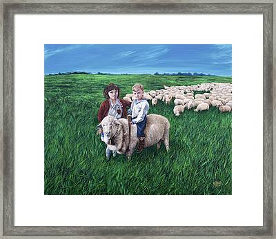Growing Up Basque Framed Print by Jessica Tookey