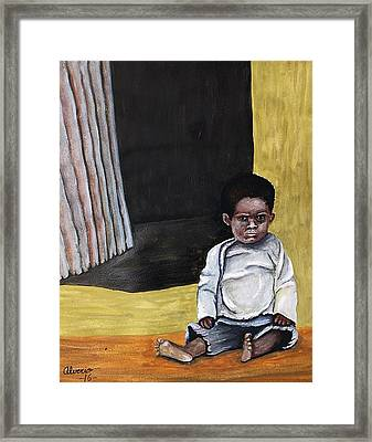 Growing Up In Poverty Framed Print by Edwin Alverio