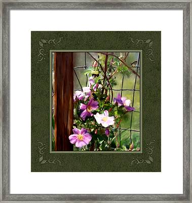 Framed Print featuring the digital art Growing Wild by Susan Kinney