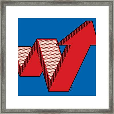 Framed Print featuring the digital art Growth Arrow by Ron Magnes