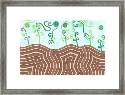 Framed Print featuring the drawing Growth by Jill Lenzmeier