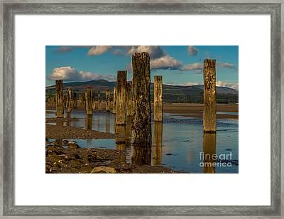Groynes In Colour 1 Framed Print