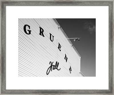 Gruene Hall Framed Print by John Gusky