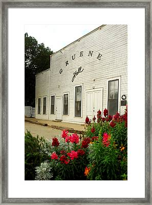 Gruene Hall With Flowers. Framed Print