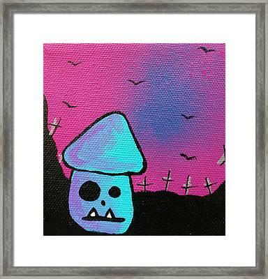 Gruff Zombie Mushroom Framed Print by Jera Sky