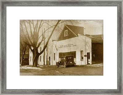Grumman Baldwin Garage Framed Print
