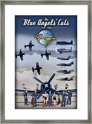 Grumman Blue Angels Cats Framed Print