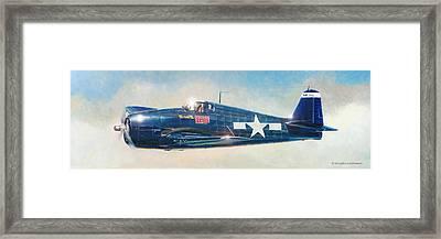 Grumman F6f-5 Hellcat Framed Print