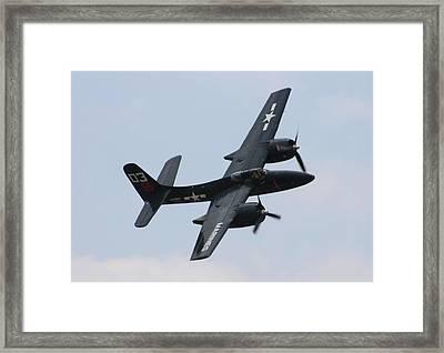 Grumman F7f-3n Tigercat Framed Print by Tommy Anderson