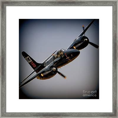 Grumman F7f Tigercat Here Kitty Kitty Framed Print