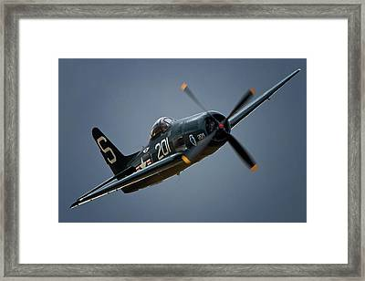 Grumman F8f Bearcat 201   2011 Chino Air Show Framed Print by Gus McCrea