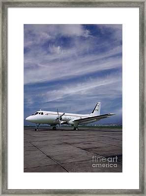 Grumman G-159 Gulfstream Patiently Waits, N719g Framed Print