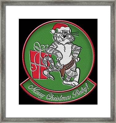 Grumman Merry Christmas Framed Print