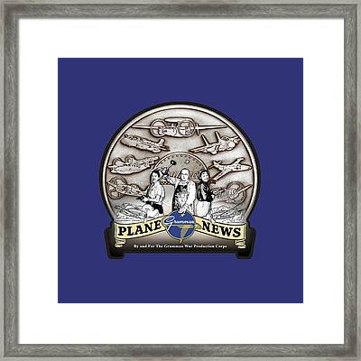 Grumman Plane News Framed Print