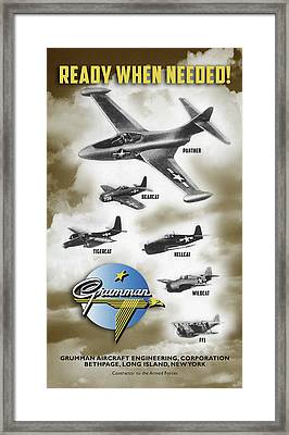 Grumman Ready When Needed Framed Print